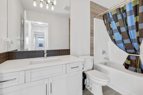 Four piece white bathroom in Evanston