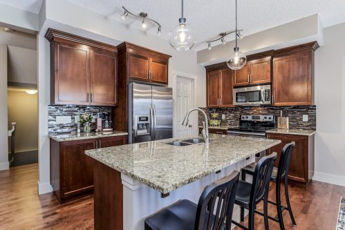 Kitchen with granite countertops at 271 Copperpond Circle SE