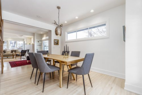 Dining room in luxury bungalow located at 539 48 Avenue SW in Calgary