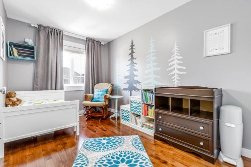 Super cute children's bedroom at 193 Rainbow Falls Manor in Chestermere for sale by Realtor Dennis Plintz Real Estate