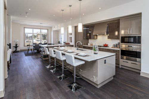 Luxury kitchen by Empire Kitchen and Bath at 4 Valour Circle for Sale by Plintz Real Estate in Calgary