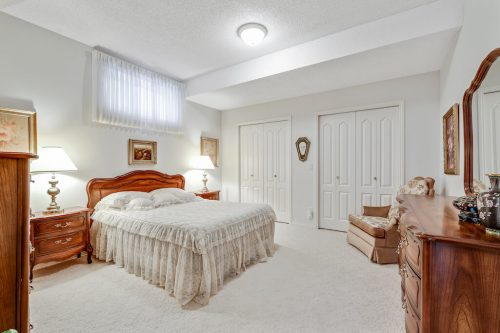 Walkout basement Bedroom with double closets