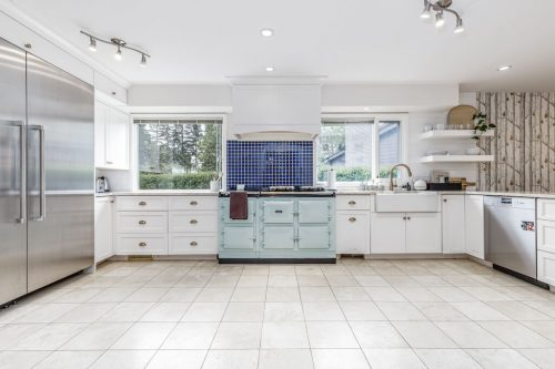 White kitchen with AGA oven at 6911 Lowes Court SW