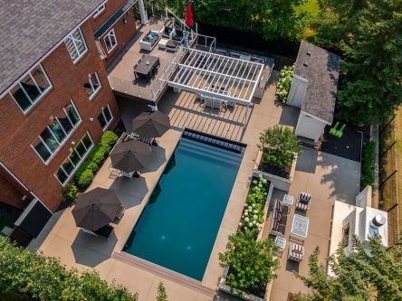 Luxury home with pool in Pump Hill calgary for sale by Dennis Plintz Real Estate